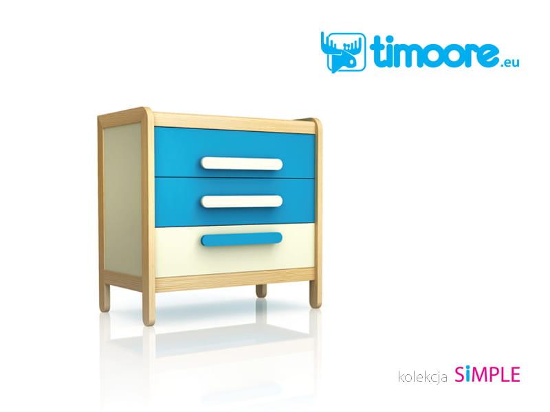 c8a1762a20 komoda z trzema szufladami Simple niebieska TIMOORE   ABSYNTH